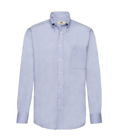 Fruit Of The Loom Mens Long Sleeve Oxford Shirt (Oxford Blue) - UTBC403