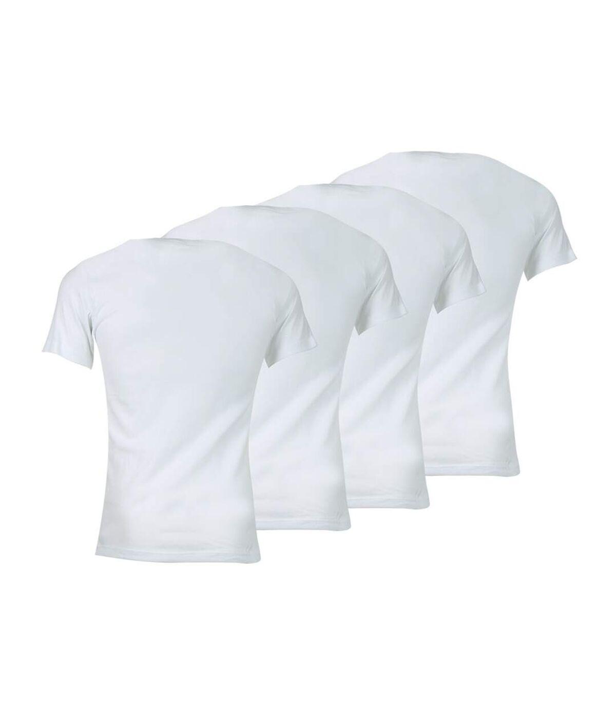 Lot de 4 tee-shirt homme col V Eco Pack