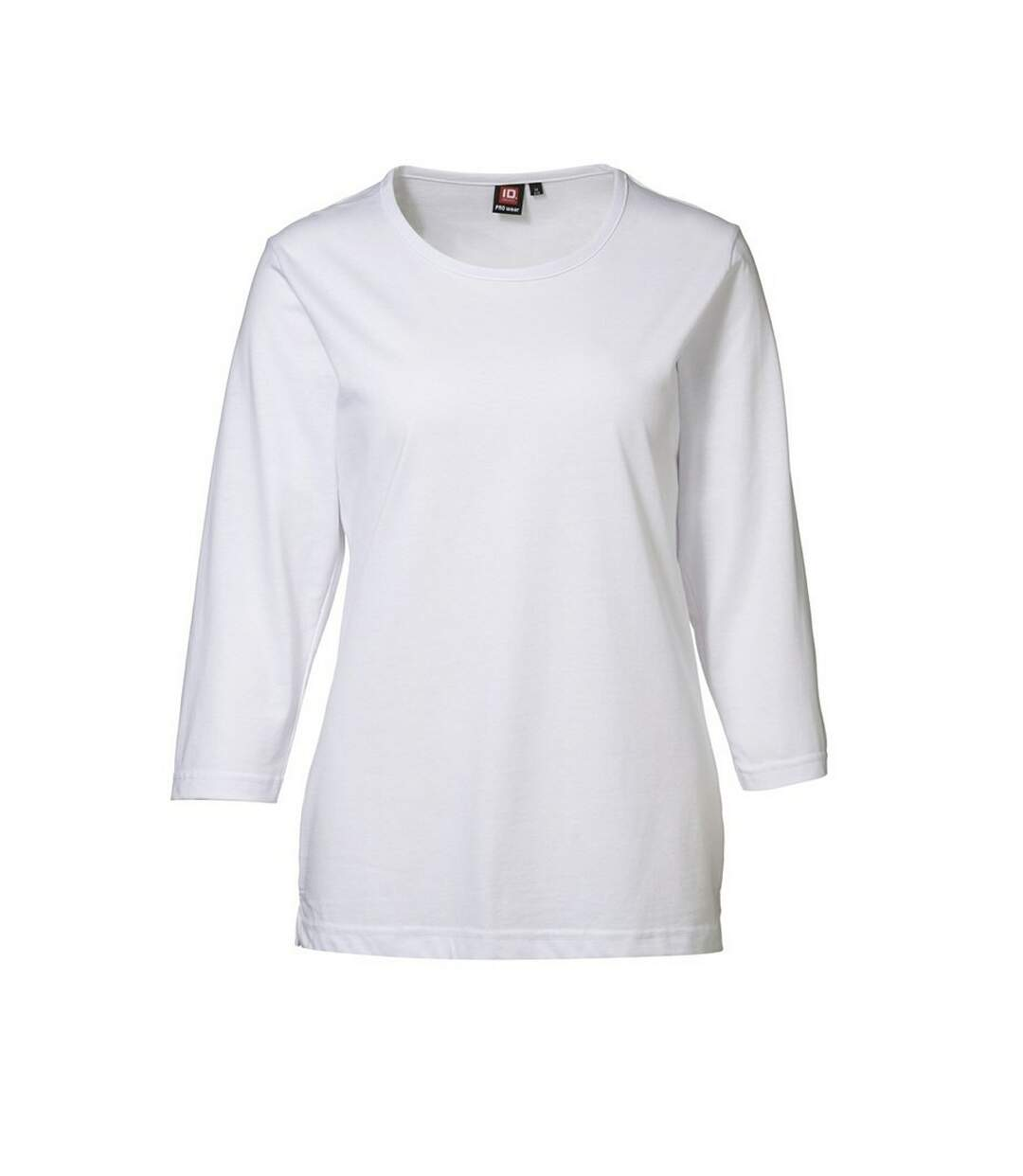 Id - T-Shirt À Manches 3/4 (Coupe Régulière) - Femme (Blanc) - UTID301