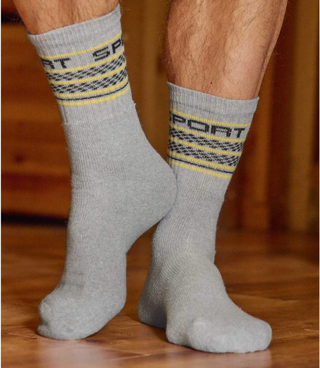 5 Paar Jacquard-Socken Sport Atlas For Men