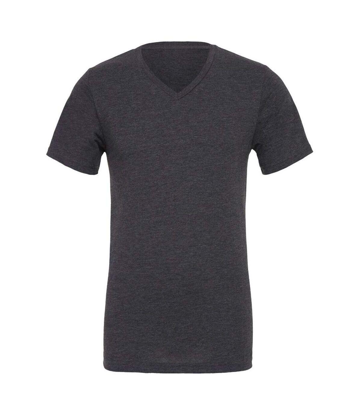 Canvas Mens Jersey Short Sleeve V-Neck T-Shirt (White) - UTBC2595