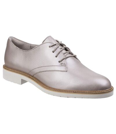 Rockport Womens/Ladies Abelle Lace Up Leather Shoes (Dove) - UTFS5535