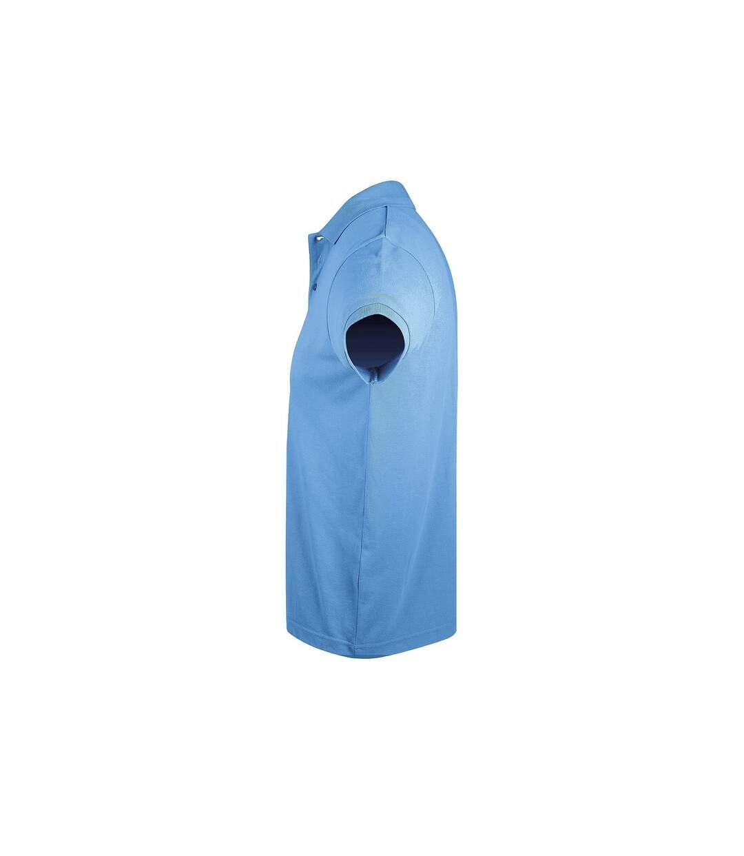 SOLs Mens Prime Pique Plain Short Sleeve Polo Shirt (Sky Blue) - UTPC493