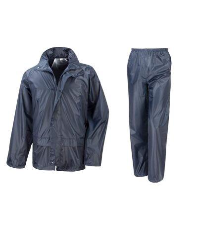 Result Core - Ensemble veste et pantalon imperméables coupe-vent - Homme (Bleu marine) (3XL) - UTBC916