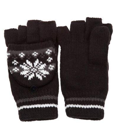 Mitaines à capuchon et à motif hivernal - Femme (Noir/Gris) - UTGL248