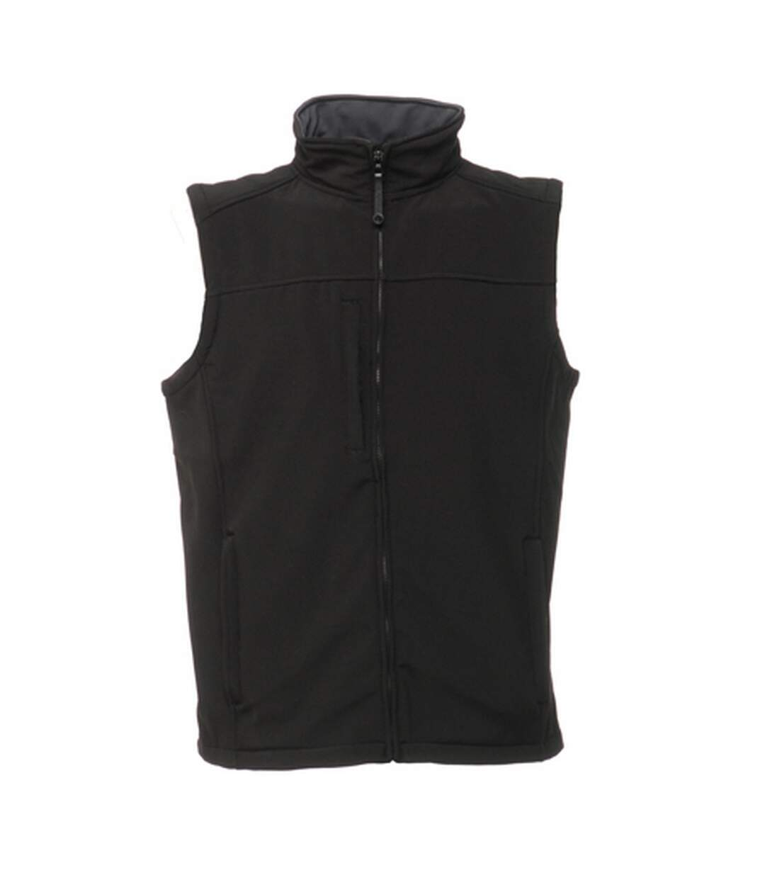 Regatta Mens Flux Softshell Bodywarmer / Sleeveless Jacket (Water Repellent & Wind Resistant) (All Black) - UTRW1213