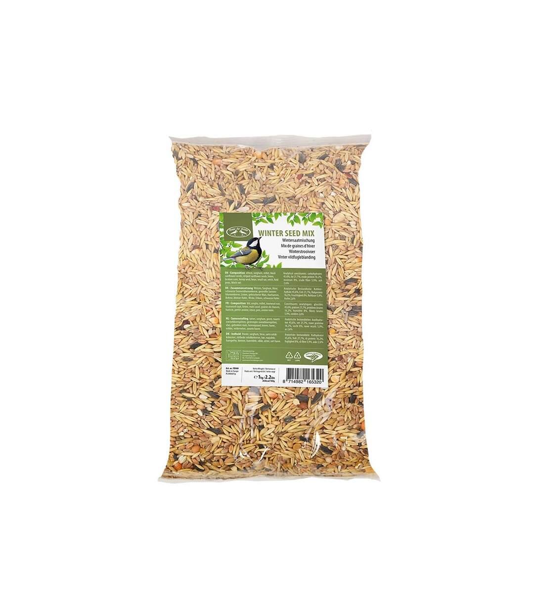 Mix de graines hiver 1kg pour oiseaux