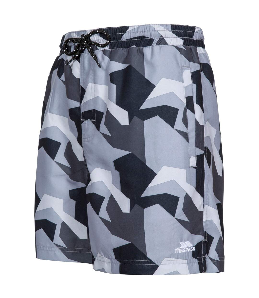 Trespass Mens Chiggers Mid Length Swim Shorts (Blue Camo) - UTTP4691