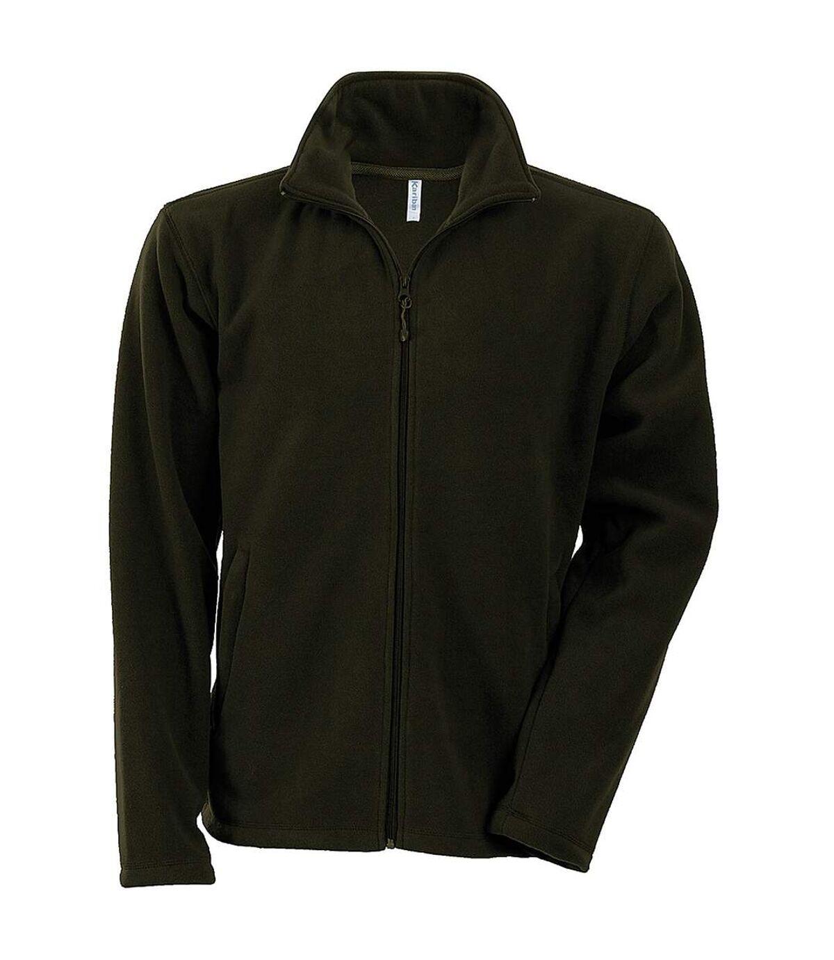 Kariban Mens Falco Full Zip Anti Pill Fleece Jacket (Olive) - UTRW737