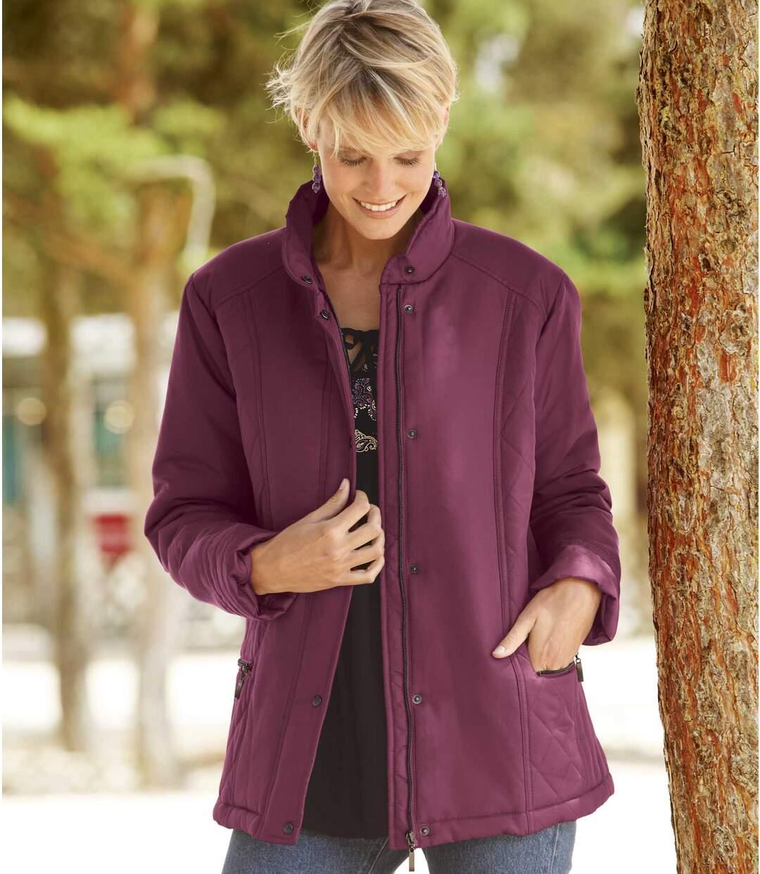 Prošívaná bunda s decentním leskem