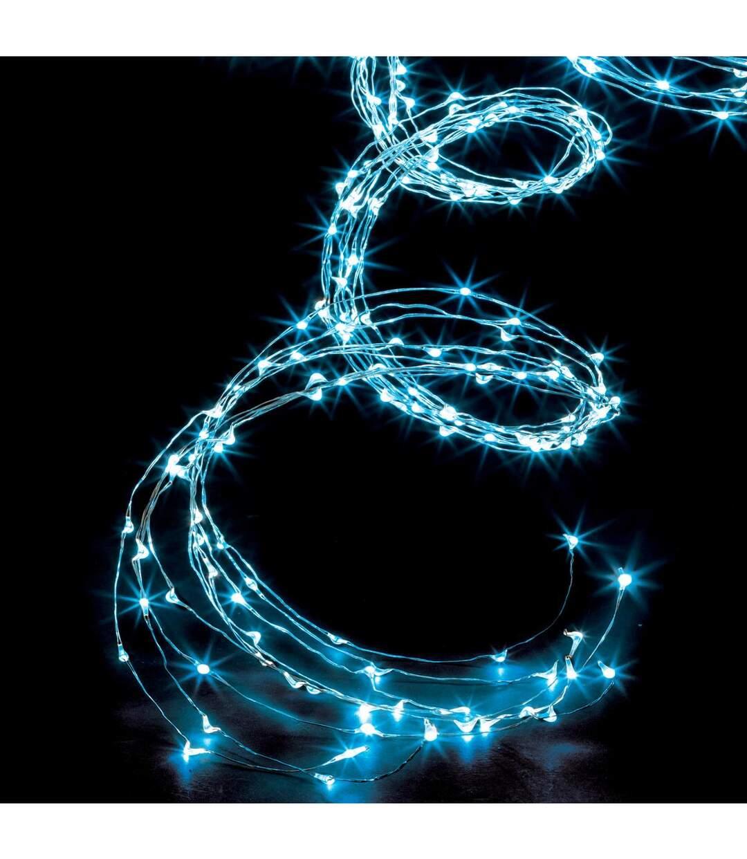 Feeric Christmas - Guirlande lumineuse Cascade 300 MicroLED Bleu et 8 jeux de lumière