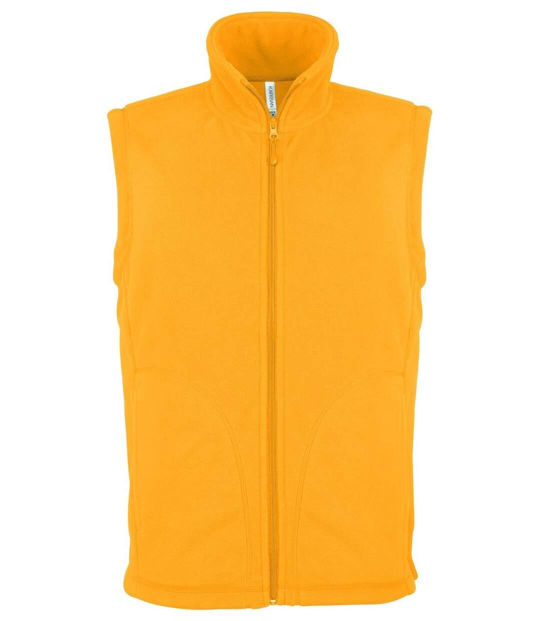 Gilet sans manches micro polaire homme - K913 - jaune