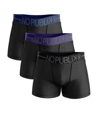 Boxer No Publik Homme Confort et Qualité en Coton -Assortiment modèles photos selon arrivages- Pack de 3 Boxers 53211