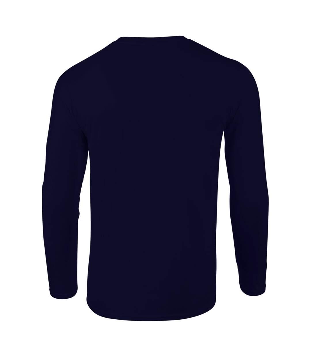 Gildan Mens Soft Style Long Sleeve T-Shirt (Navy) - UTBC488