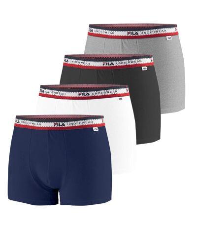 Lot de 4 Boxers Coton Homme FU5059 Uni