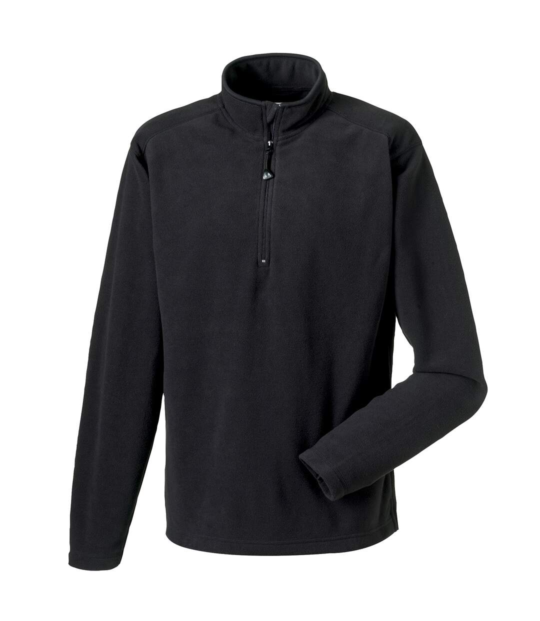 Russell Europe Mens 1/4 Zip Anti-Pill Microfleece Top (Black) - UTRW3283