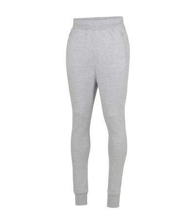 AWDis Mens Slim Fit Dropped Crotch Jogging Bottoms/Sweatpants (Heather Grey) - UTRW3943