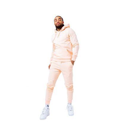 Hype Pantalon de survêtement avec logo à rayures pour hommes (Rose pâle) - UTHY4854