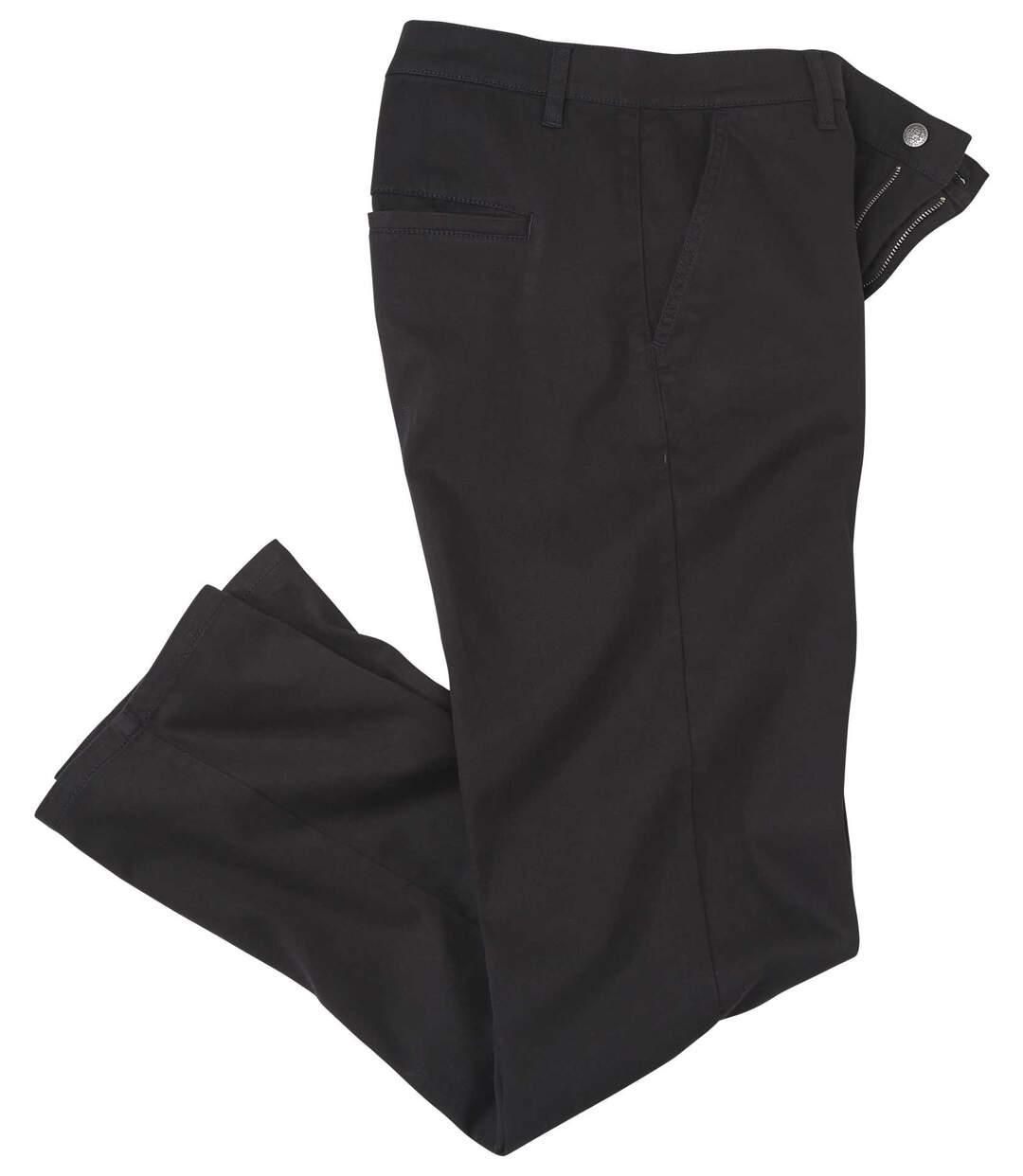 Černé strečové chino kalhoty