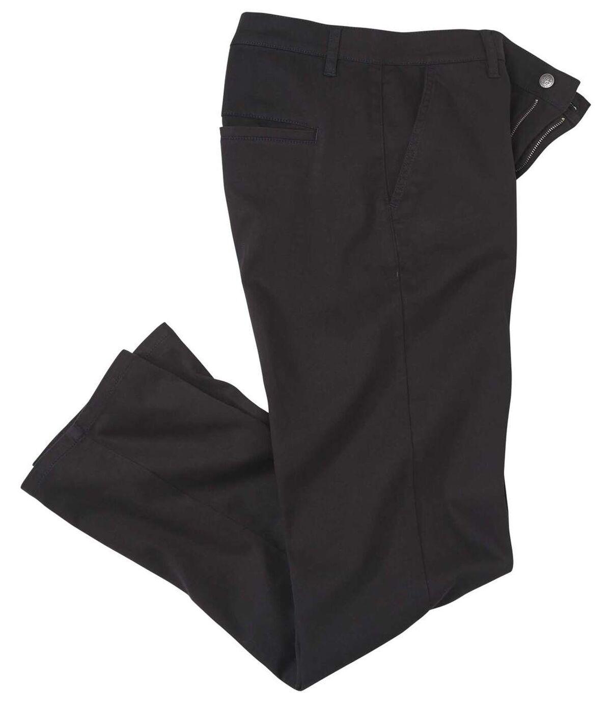 Černé strečové chino kalhoty Atlas For Men