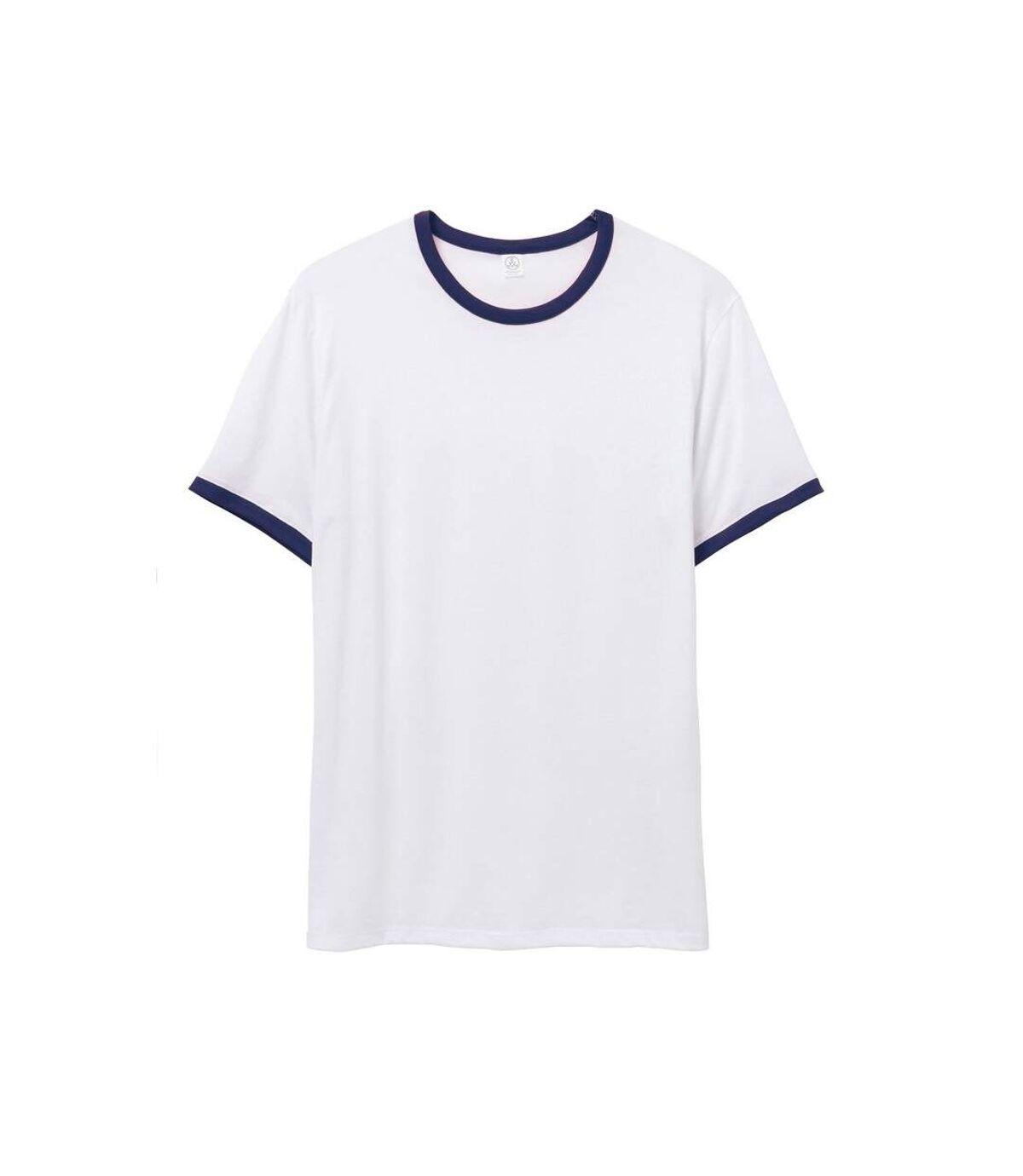 Alternative Apparel Mens 50/50 Vintage Jersey Ringer T-Shirt (White/Navy) - UTRW7149