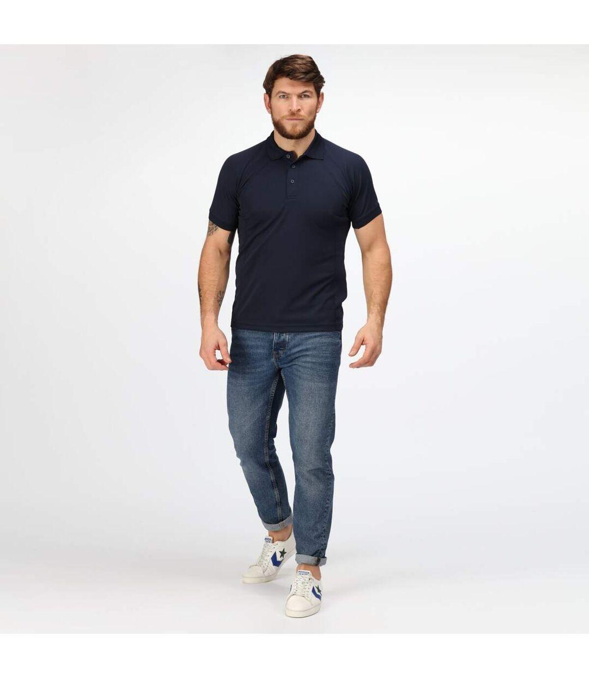 Regatta Hardwear Mens Coolweave Short Sleeve Polo Shirt (Navy) - UTRW4606