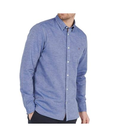 Chemise Bleue Homme Tommy Hilfiger Linen Twill