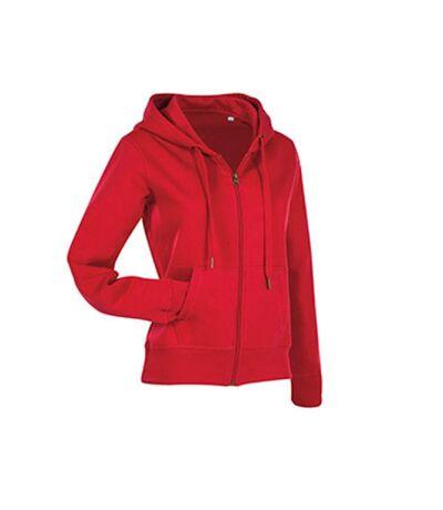 Stedman - Sweatshirt Femme active zippé (Rouge) - UTAB324