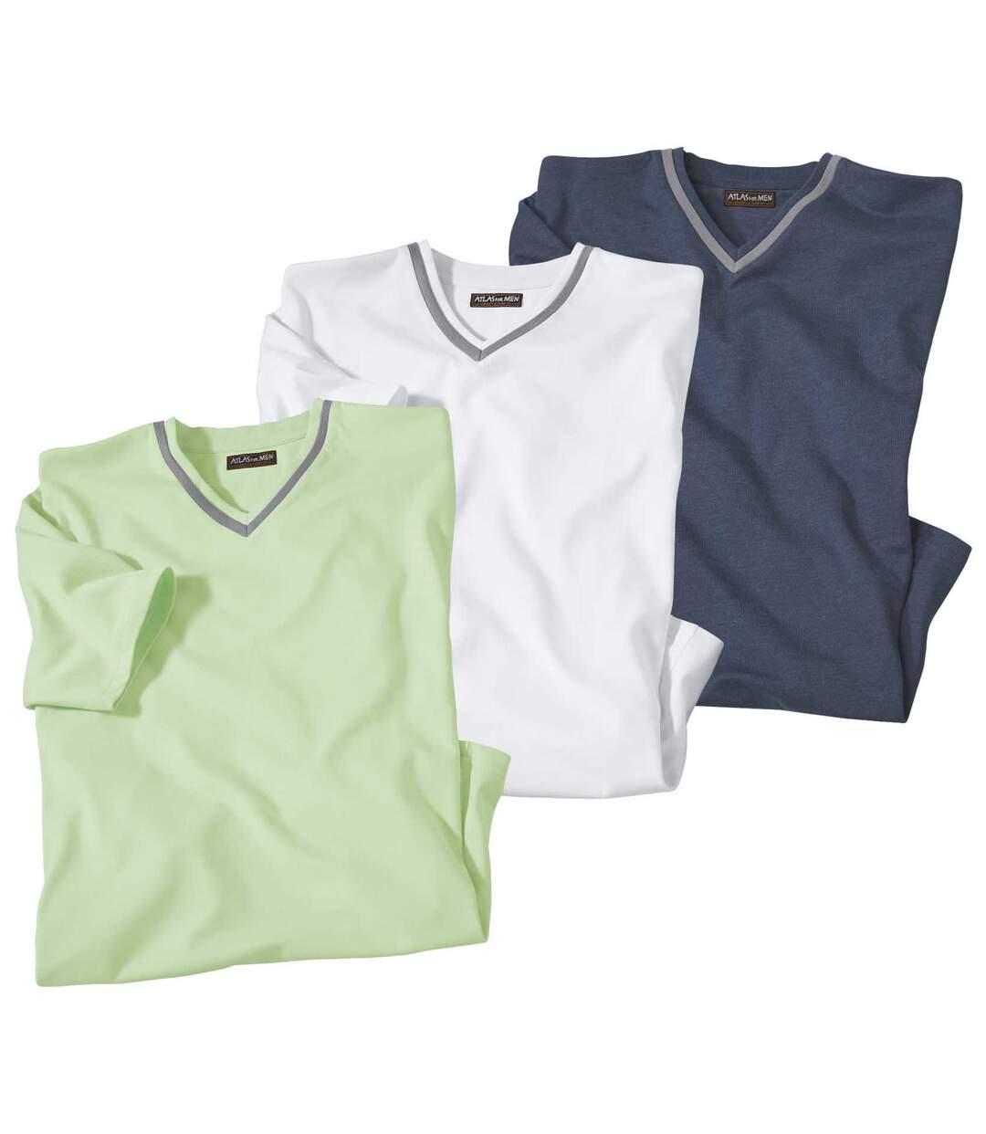 Set van 3 Mediterranean Islands T-shirts met V-hals