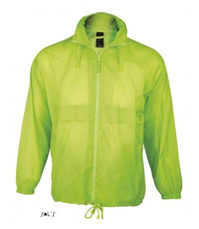 Veste coupe-vent imperméable - 32000 - vert citron - mixte homme ou femme