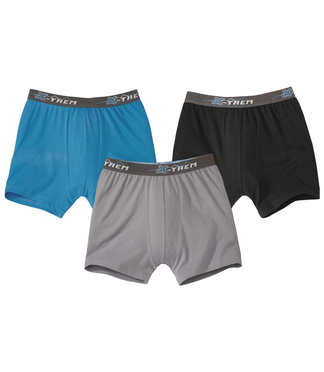 3er-Pack einfarbige Stretch-Boxershorts