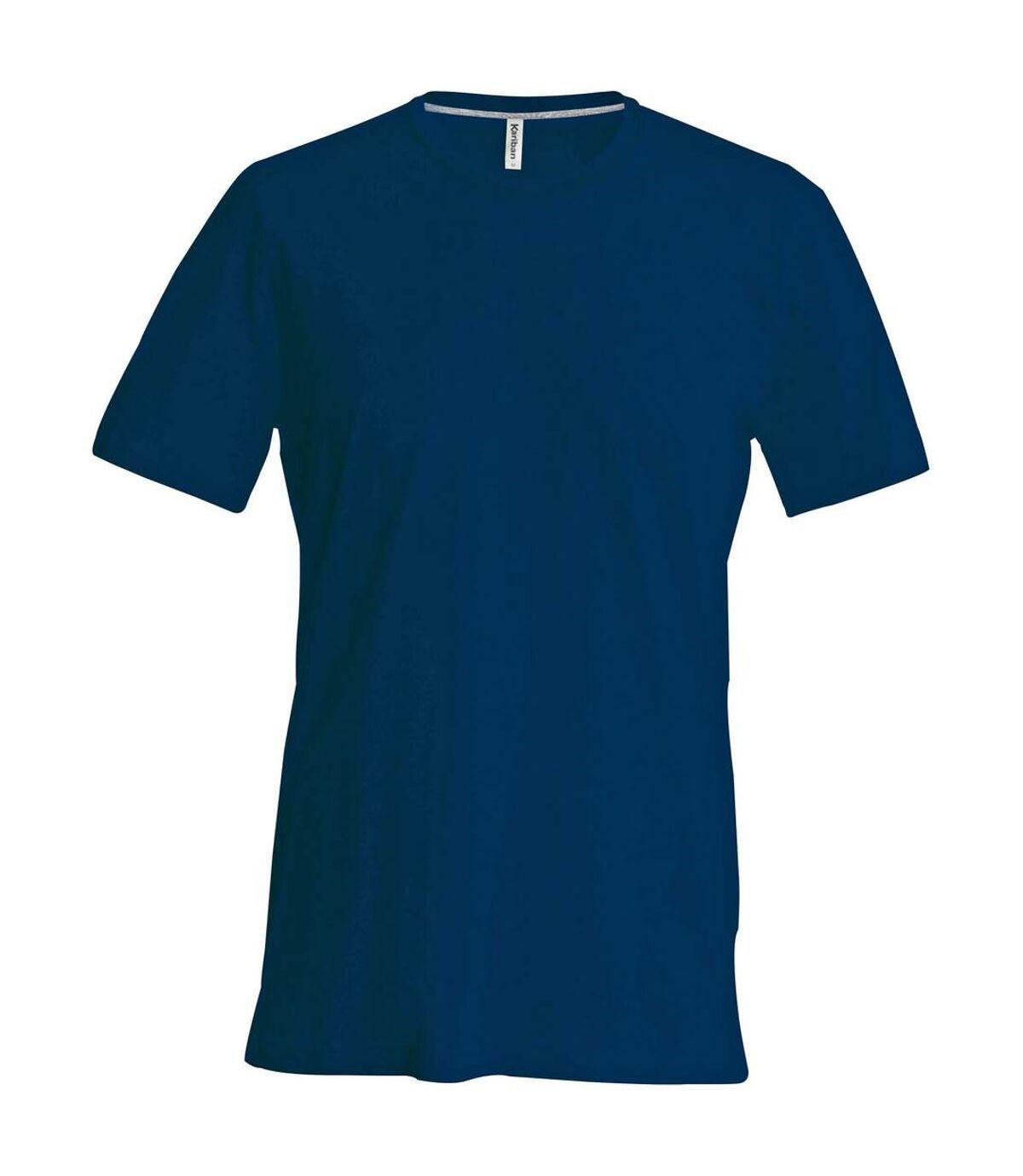 Kariban Mens Slim Fit Short Sleeve Crew Neck T-Shirt (Navy) - UTRW706