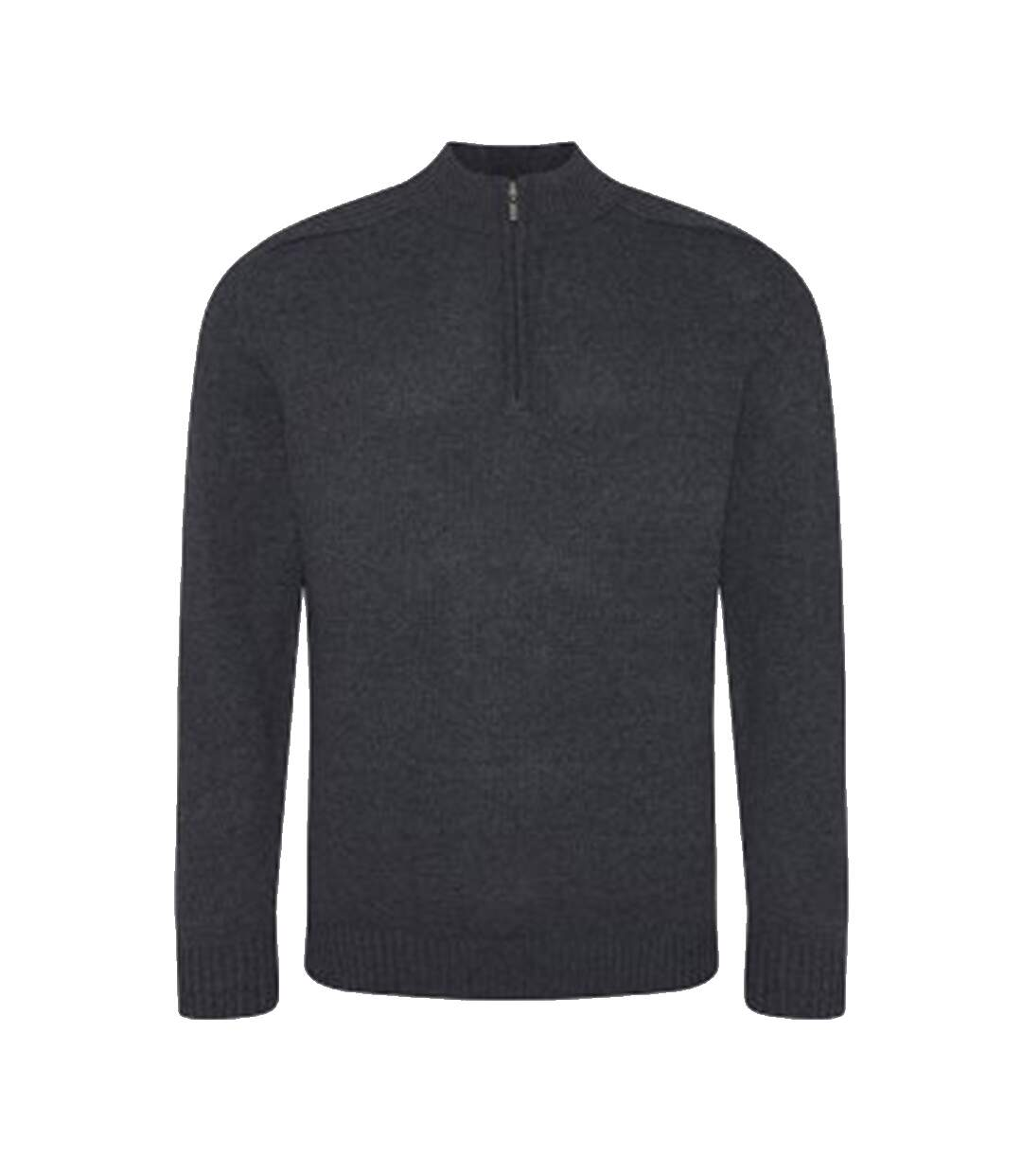 Ecologie Mens Wakhan Zip Neck Sweater (Charcoal) - UTPC3065