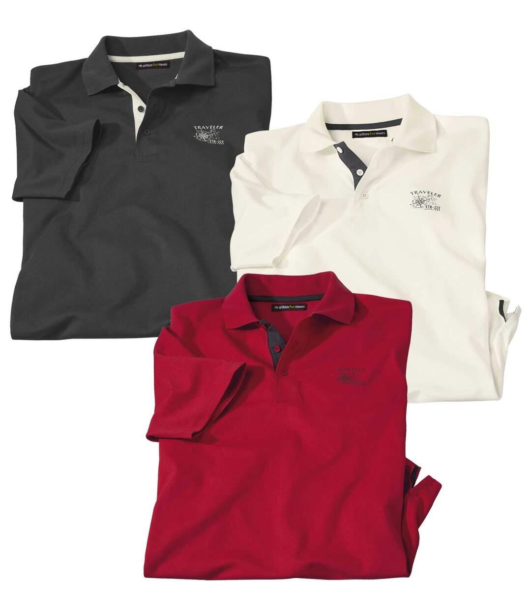 3er-Pack Poloshirts Ausflug