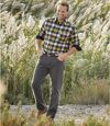 Sivé strečové džínsy Regular Atlas For Men