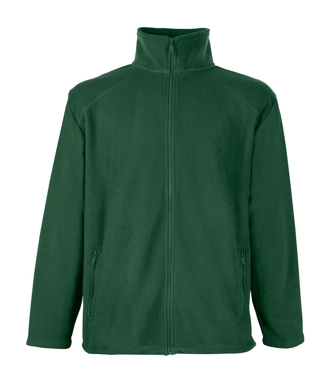Fruit Of The Loom Mens Full Zip Outdoor Fleece / Top (Bottle Green) - UTBC372
