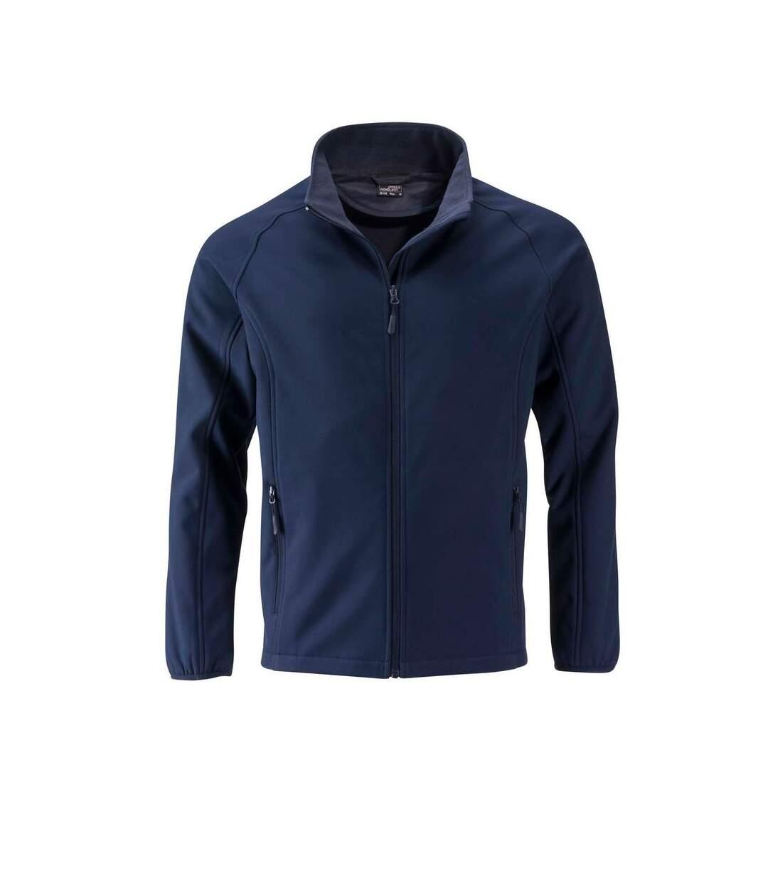 Veste softshell coupe-vent déperlante homme JN1130 - bleu marine