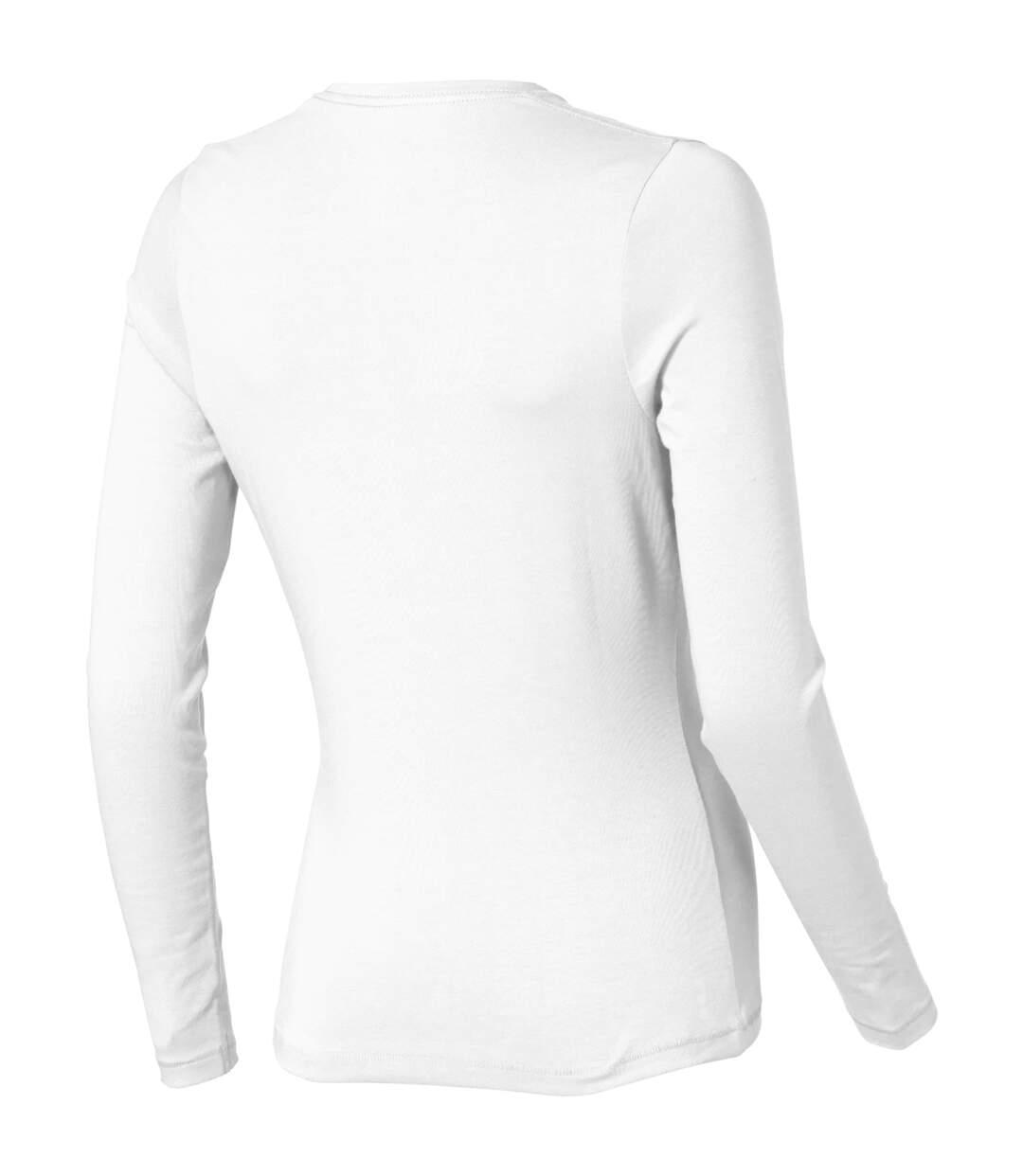 Elevate - T-Shirt Manches Longues Ponoka - Femme (Blanc) - UTPF1812