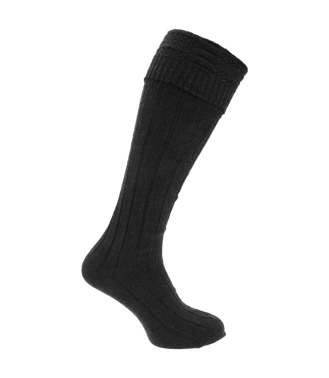Mens Scottish Highland Wear Wool Kilt Hose Socks (1 Pair) (Khaki) - UTMB442