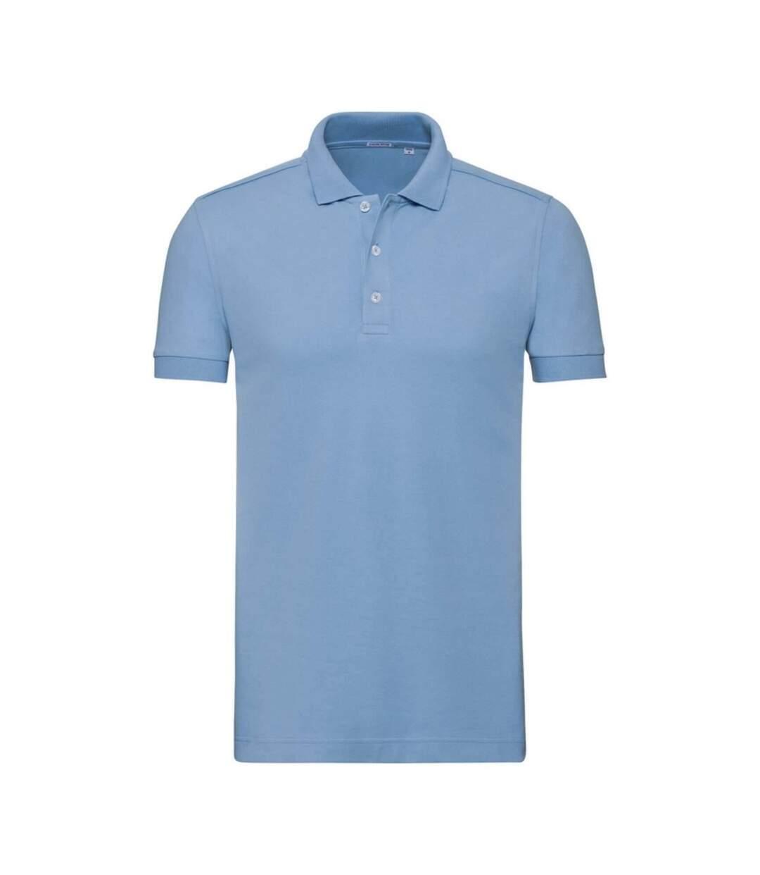 Russell Mens Stretch Short Sleeve Polo Shirt (Sky Blue) - UTBC3257