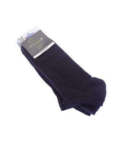 Chaussette Mini-chaussettes - Lot de 3 - Semelle bouclette - Multisport - Coton - Noir - Socks equipment