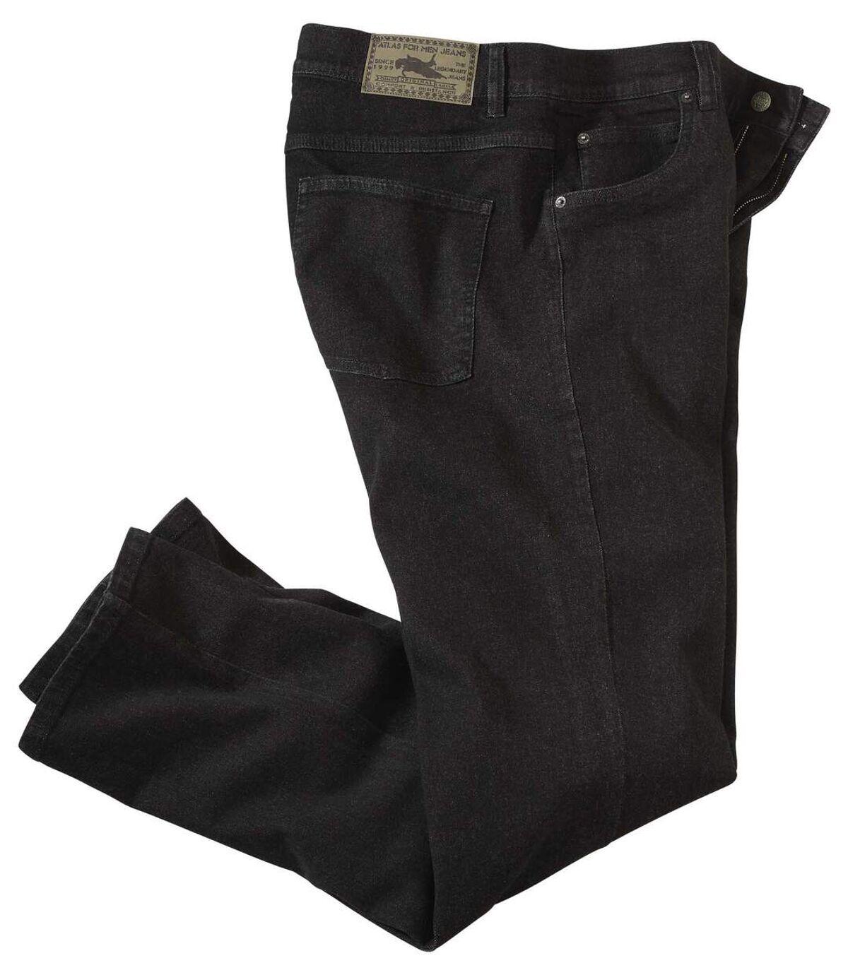 Men's Black Stretch Denim Jeans Atlas For Men