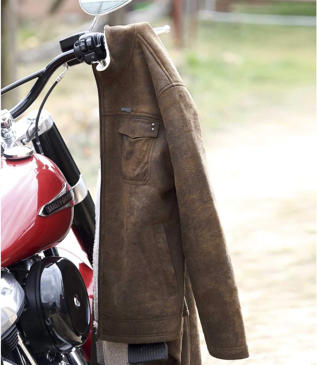 Jacke Westmount in Wildlederoptik mit Teddyfutter