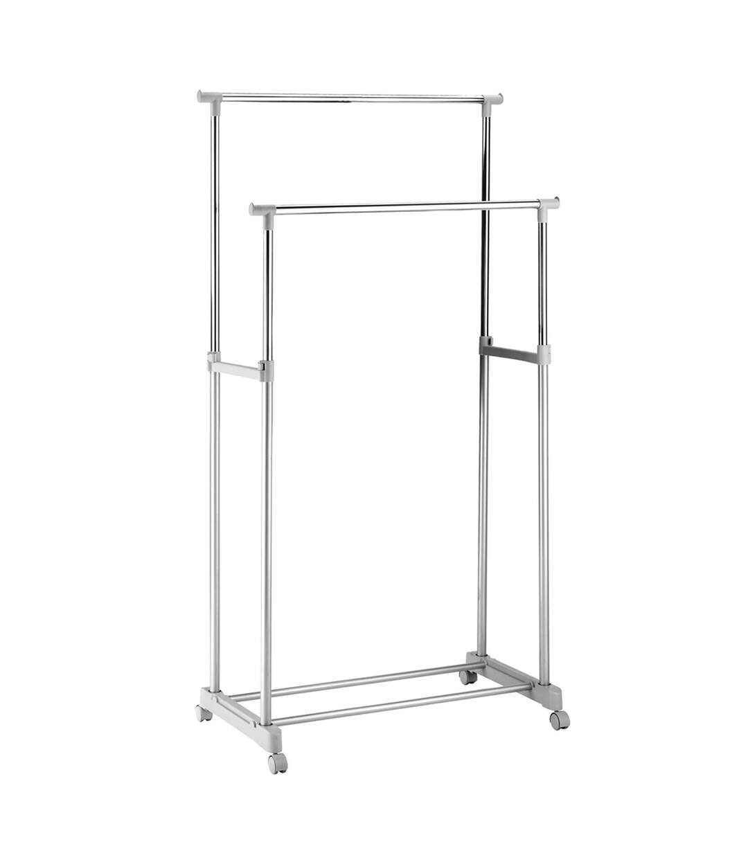 Portant-vêtement double barre Idebox - 167 x 84 x 42 cm - Métal