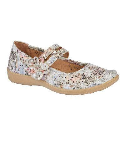Boulevard Womens/Ladies Flower Bar Shoe (Multicoloured) - UTDF1968