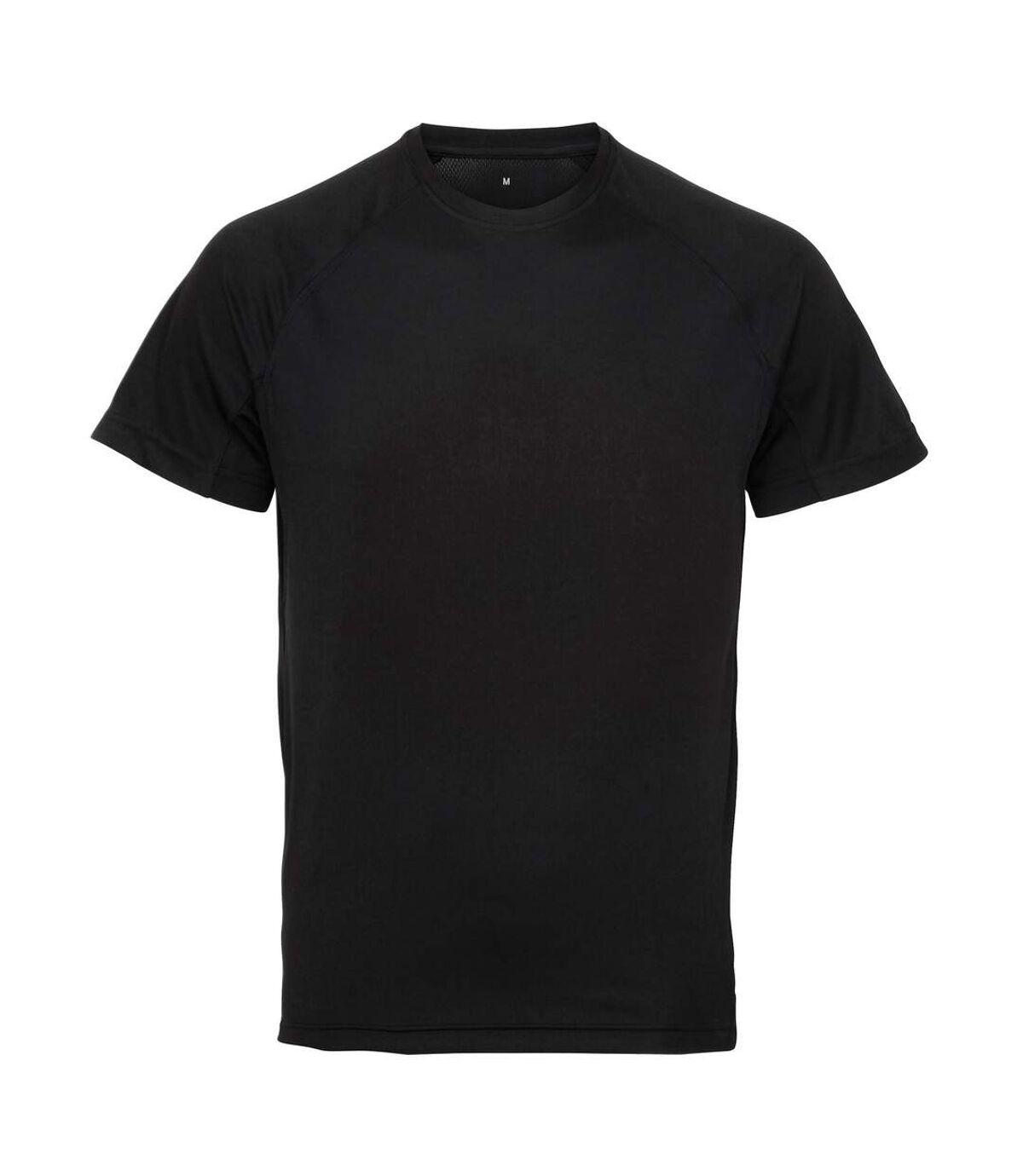 Tri Dri Mens Panelled Short Sleeve T-Shirt (Black) - UTRW4799