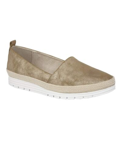 Cipriata Womens/Ladies Manuela Casual Shoes (Gold Shimmer) - UTDF1585