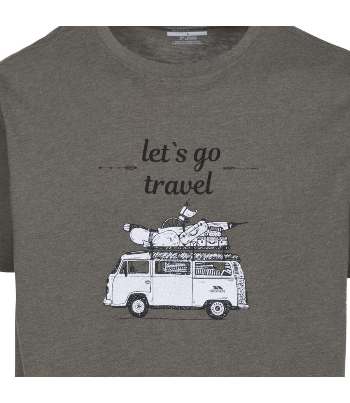 Trespass Mens Motorway T-shirt (Moss Marl) - UTTP4298