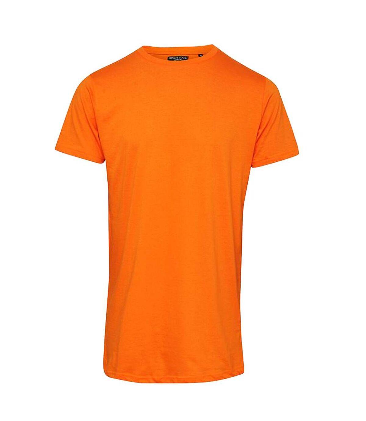 Brave Soul Mens Harrel Short Sleeve Crew Neck T-Shirt (Orange) - UTRW5687