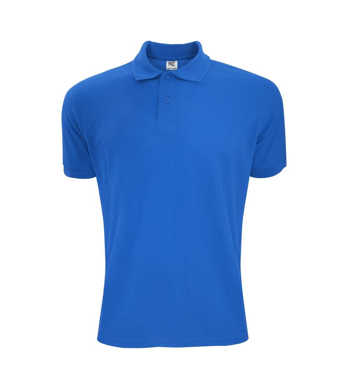 SG Mens Polycotton Short Sleeve Polo Shirt (Royal) - UTBC1084